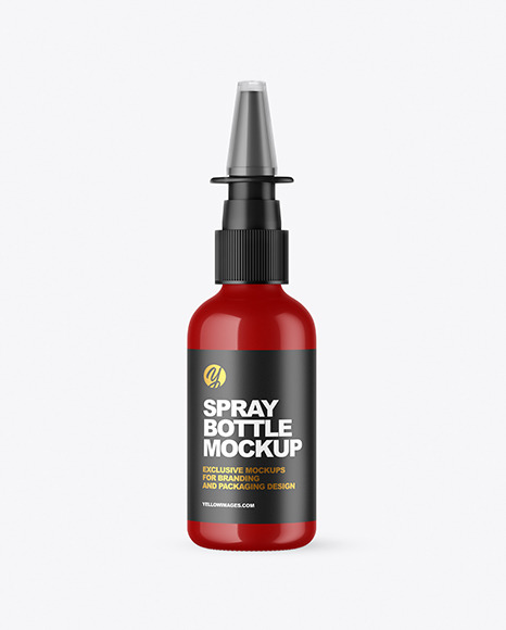 Glossy Nasal Spray Bottle Mockup