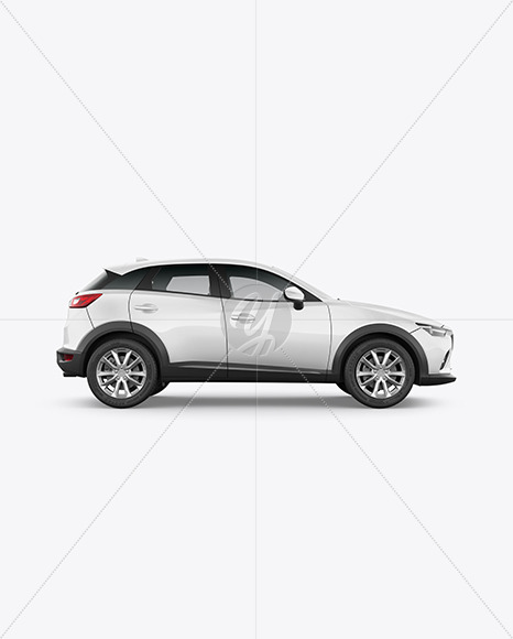 Compact Crossover SUV Mockup - Side View
