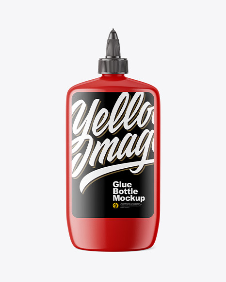 Glossy Glue Bottle Mockup
