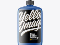 Matte Glue Bottle Mockup