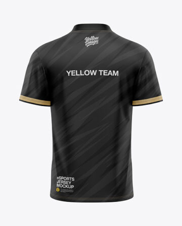 Men's V-Neck eSports Jersey Mockup - Back View - eSport T-shirt