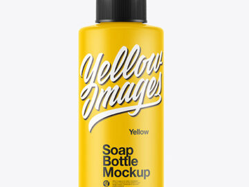 Matte Soap Bottle Mockup