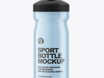 Transparent Plastic Sport Bottle Mockup