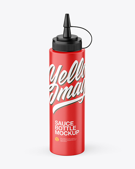 Matte Plastic Sauce Bottle