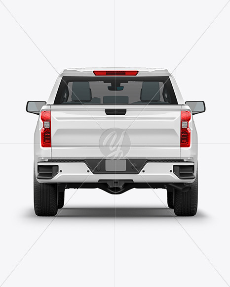 Full-Size Pickup Truck Mockup - Back View