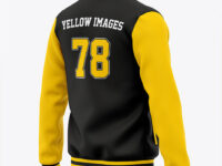 Men's Letterman Jacket or Varsity Jackets - Back Half Side View
