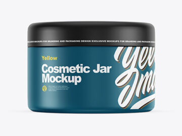 Closed Matte Plastic Cosmetic Jar Mockup