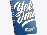Notebook Mockup - Right Side View