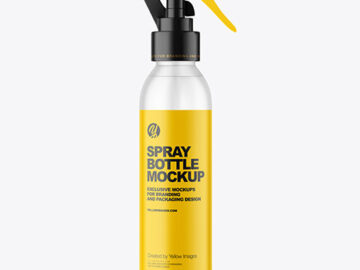 Frosted Spray Bottle Mockup