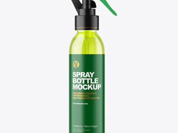 Color Plastic Spray Bottle Mockup