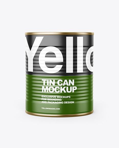 Tin Can With Pull Tab & Matte Finish Mockup
