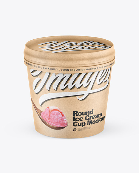 Kraft Ice Cream Cup Mockup