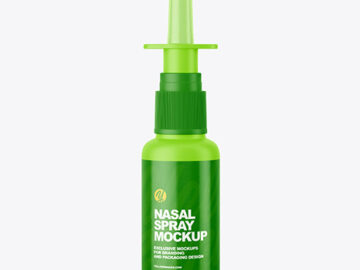 Matte Nasal Spray Bottle Mockup