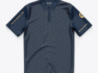 Polo Shirt With ZIp Collar - Top View