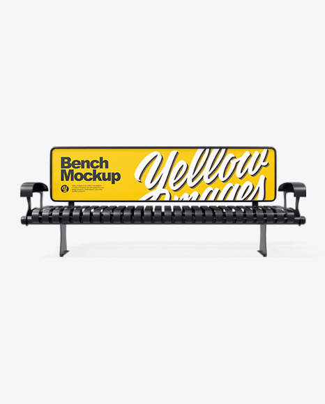 Advertising Bench Mockup