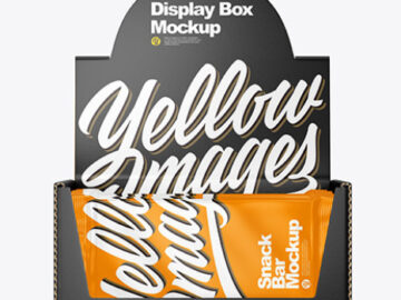 Display Box & Snack Bars Mockup