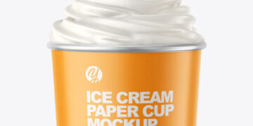 Ice Cream Paper Cup Mockup