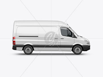 Panel Van Mockup - Side View