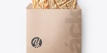 Paper Pack with Two Crackers Mockup