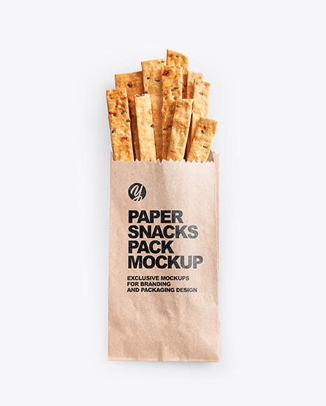 Paper Pack with Crackers Mockup