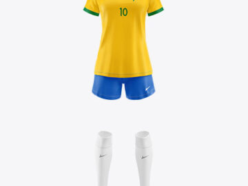 Women's Football Kit Mockup - Front View