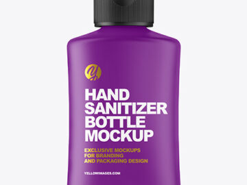 Matte Hand Sanitizer Bottle Mockup