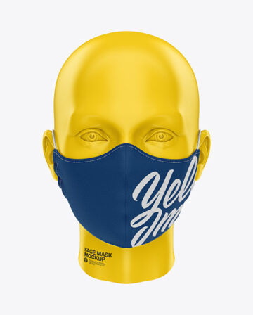 Face Mask with Elastic Cord - Front View