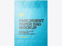 Matte Parchment Paper Shopping Bag Mockup - Front View