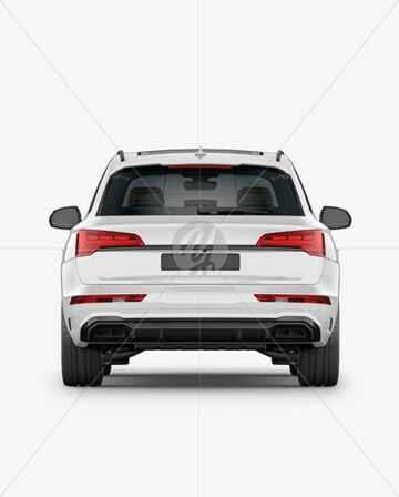 Crossover SUV Mockup – Back View