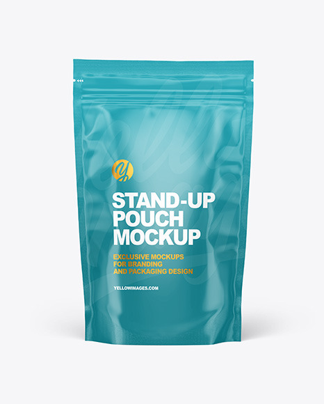 Glossy Stand-up Pouch Mockup