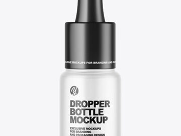 Frosted Glass Dropper Bottle Mockup