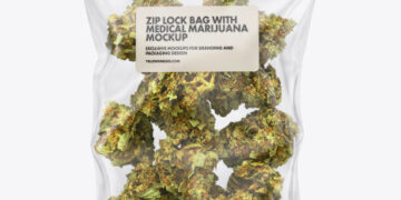 Medical Marijuana Bag Mockup