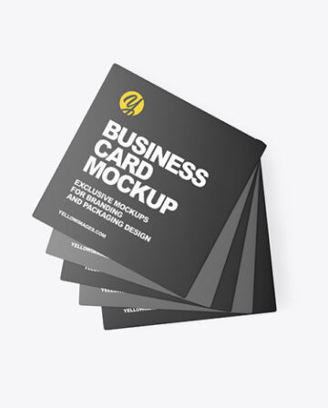 Five Business Cards Mockup