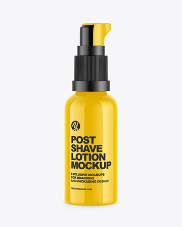 Glossy Post Shave Lotion Bottle Mockup