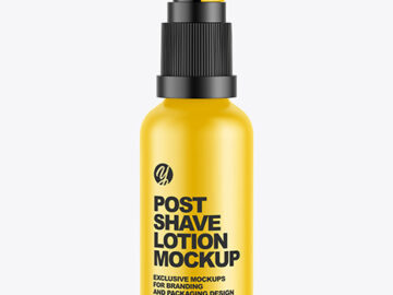 Matte Post Shave Lotion Mockup