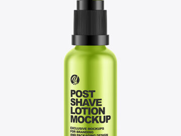 Metallic Post Shave Lotion Mockup