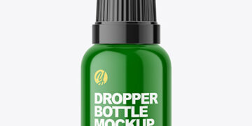Plastic Dropper Bottle Mockup
