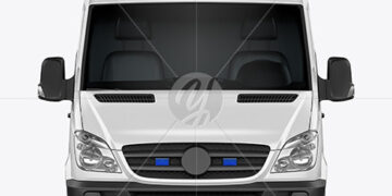 Van Ambulance Mockup - Front View