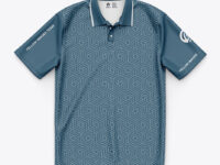 Short Sleeve Polo Shirt/ Sublimated Polo Shirt- Top View