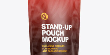 Paper Stand-up Pouch Mockup