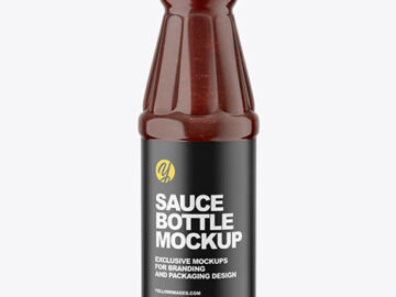 Barbecue Sauce Bottle Mockup