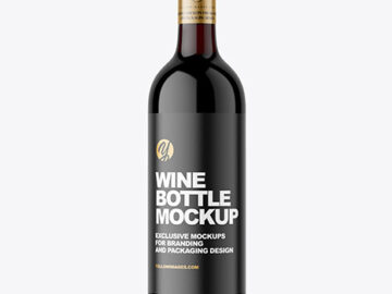 Dark Glass Red Wine Bottle Mockup