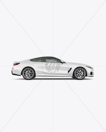 Coupe Car Mockup - Side View