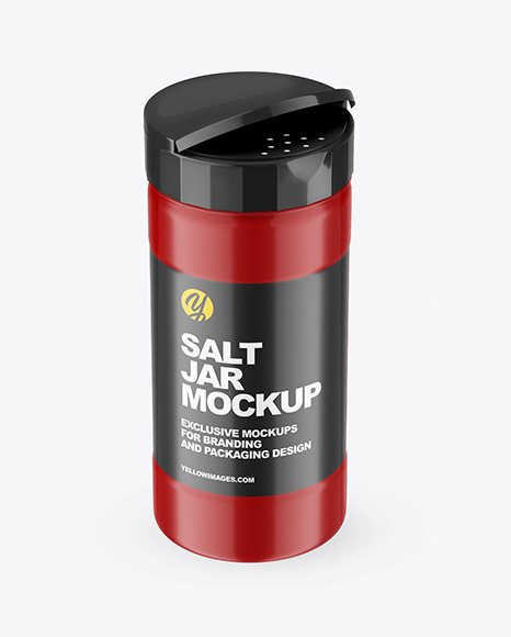 Opened Matte Salt Jar Mockup