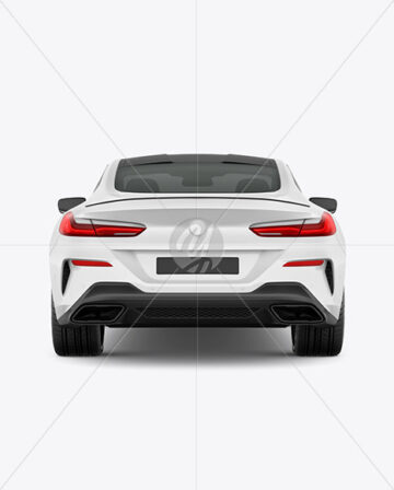 Coupe Car Mockup - Back View