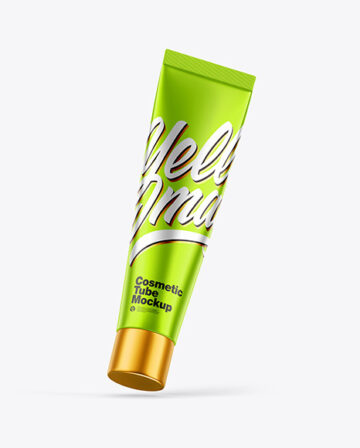 Metallic Cosmetic Tube Mockup