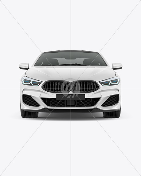 Coupe Car Mockup - Front View