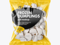 Plastic Bag With Dumplings Mockup