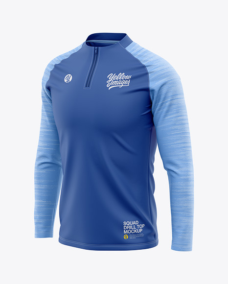 Men's Squad Drill Soccer Top - Front Half-Side View - Soccer Training Jersey