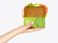Sandwich Pack in a Hand Mockup